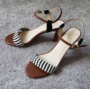 Seychelles heritage leather and striped heels